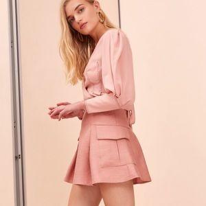 NWT C/MEO Ulterior Mini Skirt - Rosewood/Pink